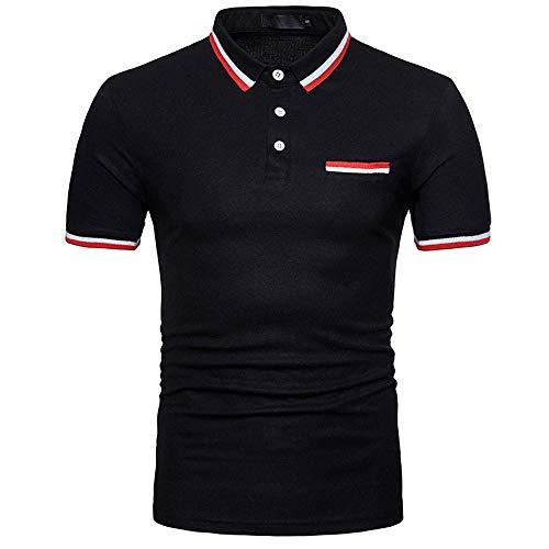 KIMODO Herren einfarbig Persönlichkeit dünne Hemd T-Shirt Sommer Kurzarm Bluse Freizeit Poloshirt für Männer Mode 2019 -