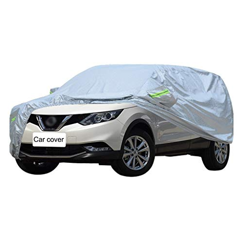 Autoabdeckung Auto Abdeckplane Kompatibel mit Nissan Qashqai Auto Cover SUV Cover Allwetter Outdoor Winddicht Wasserdicht UV-Schutz Car Cover