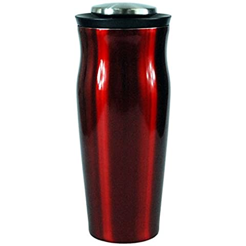 Dunelm 650ml Cocktail Shaker Steel Built in Strainer Red High Metallic Lustre Finish Bar Party Cocktail
