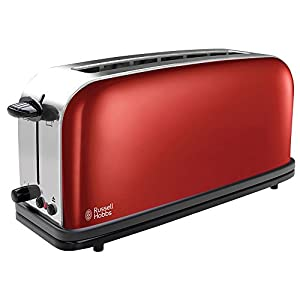 Russell Hobbs 21391-56 Toaster Colorous Plus Flame long-21391-56, red