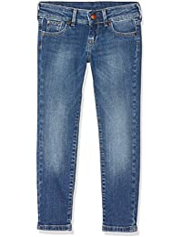 Pepe Jeans New Saber, Vaqueros para Niñas, Azul (Denim), 5 años