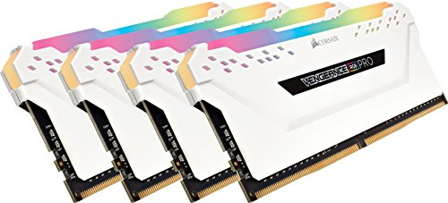 Corsair Vengeance RGB PRO 32 GB (4x8 GB) DDR4 3600MHz C18 XMP 2.0 Kit di Memoria Illuminato RGB LED Entusiasta, Bianca