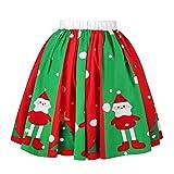 Frau Beiläufig Weihnachten Rock, Quaan Weihnachtsmann Aufflackern elastisch Hoch Taille Cosplay Ball Kleid Performance Eine Linie lose Sexy Mini Lolita-Stil Klassisch Prinzessin Kostüm Kleid