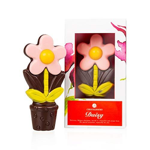 ChocoDaisy - Pink - Blume aus Schokolade   Essbare Dekoration   Geschenk   Muttertag   Valentinstag   Geschenkidee   Frauen   Männer   Geburtstag   Kinder   Frau   Mädchen   Rosa (Schokolade Und Blumen)