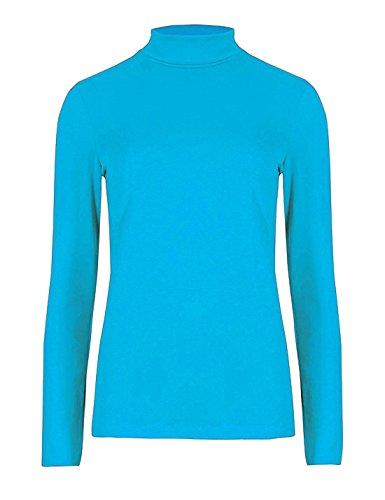 FashionCity Top à Manches Longues - Femme Turquoise