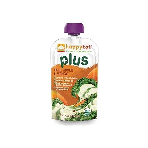 Nurture Inc. (Happy Baby), happytot Plus, Kale, Apple & Mango, 4.22 oz (120 g) by Happy Tot