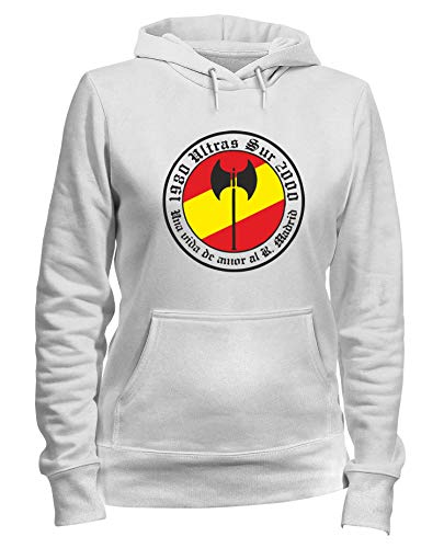 Speed Shirt Kapuzen-Sweatshirt Frauen Weiss TUM0032 SUR REAL Madrid (Madrid Pullover Frauen Real)