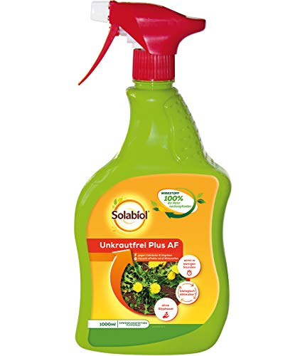Solabiol Unkrautfrei Plus AF, anwendungsfertiger biologischer Unkrautvernichter, 1 Liter Sprühflasche -