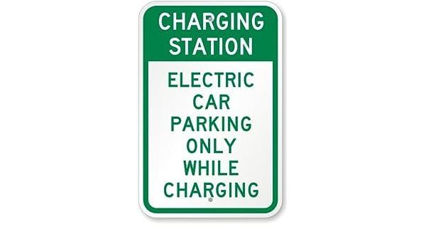 Cartello di Ricarica per Auto elettrica 45,7 x 30,5 cm PotteLove