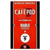 6x Cafepod Diablo Nespresso Kompatiblen Kaffeekapseln 55G