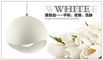 Bianco Rotondo Di Metallo Per Interni Decorazione Ciondolo Vintage Loft Luce Apparecchio Di Illuminazione Lampadario,Bianco