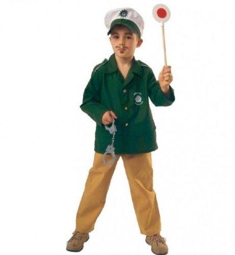 Polizist 2 tlg m Mütze Polizei Kinder Kostüm Gr (Kinder Polizist Kostüm Mädchen)