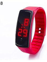 Reloj de Pulsera Digital con LED de Silicona Resistente al Agua para niños y niñas,