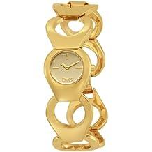 D&G Dolce & Gabbana DW0171 - Reloj para mujeres, correa de acero inoxidable color dorado
