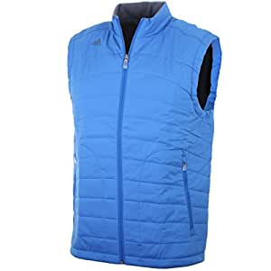 2014 Adidas ClimaProof Padded Mens Golf Vest Wind Gilet Royal Blue Small