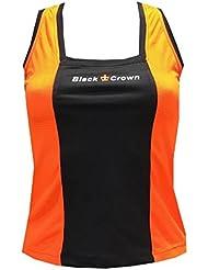 Camiseta Padel Black Crown Mujer Zurich Naranja/Negro-M