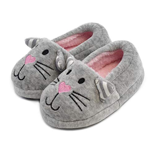 Totes Girls Novelty Cat Slippers
