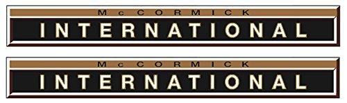 2x MC Cormick / IHC Aufkleber gold international Logo Emblem Sticker Label (International-logo)