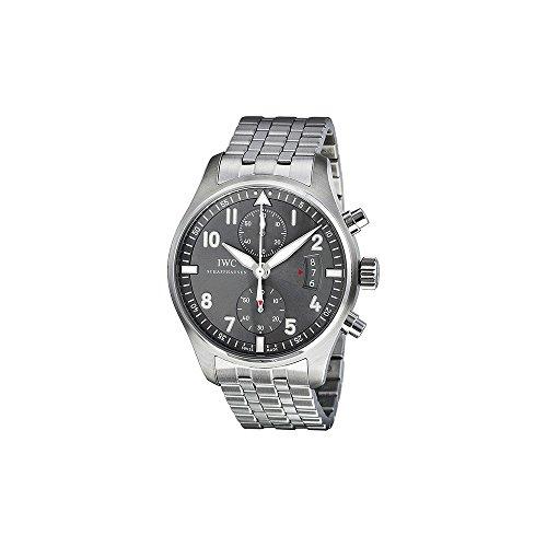 IWC Chronograph Edelstahl IW387804 Spitfire Ardoise ?zle Stahl Mens Wahlschalter IWC