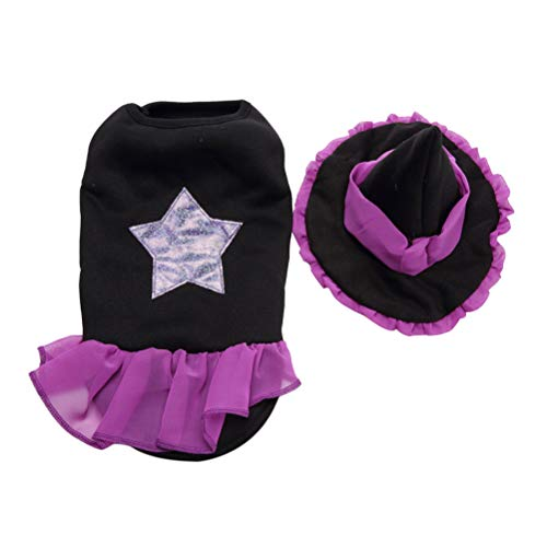 POPETPOP Halloween Design Hut lustige Haustier Kleidung für Halloween Party Decor Halloween Heimtierbedarf (Assistent Anzug L)