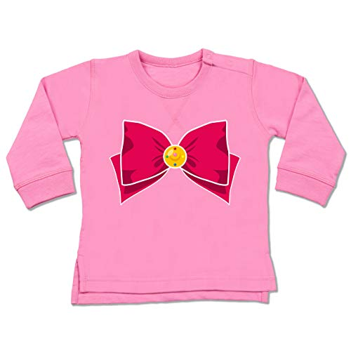 Shirtracer Karneval und Fasching Baby - Superheld Manga Moon Kostüm - 6-12 Monate - Pink - BZ31 - Baby ()