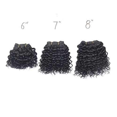 # 1, Jerry Wave-3pcs, extension de cheveux humains 100% 15,2 cm 1pièce. 17,8 cm 1. 20,3 cm 1.