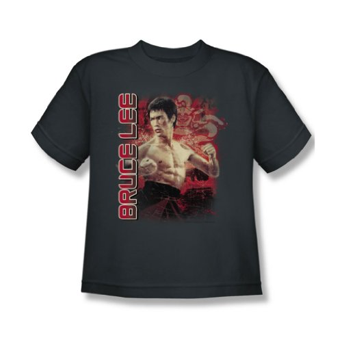 Bruce Lee - Fury Jugend T-Shirt in der Holzkohle Charcoal