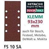 Hitachi-753035Raumfahrt-Schleifblätter 93x 230mm Körnung 120Schleifpapier Clip