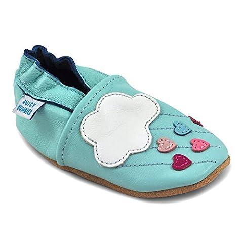 Juicy Bumbles - Lauflernschuhe - Krabbelschuhe - Babyhausschuhe - Wolken 6-12 Monate (Größe