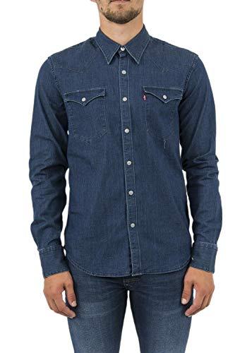 Levi's Mens Barstow Western Blau Langärmelige Hemden XXL