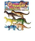 #6: Loggas Red Rock Plastic Reptiles Animal Dinosaur Model(Multicolour)- Set of 6pcs