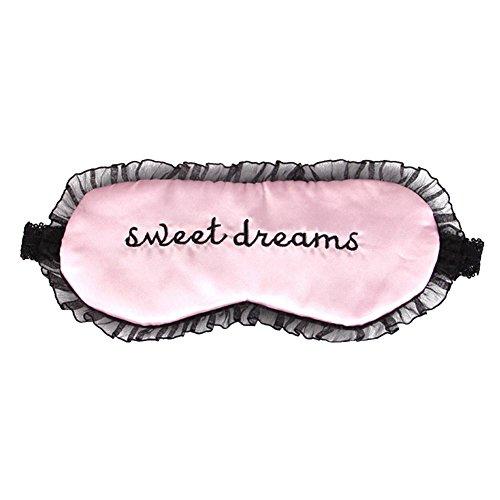 Pink Maske Lace (Eleery süße Lace schlafen Augen Maske Augenbinde Schatten Schlaf Beihilfen Augenmaske)