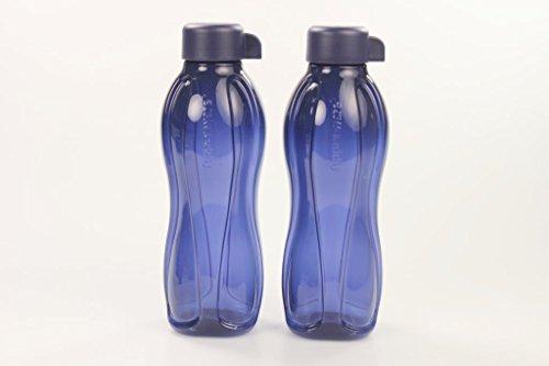 TUPPERWARE To Go Eco 500ml dunkelblau (2) Drehverschluss Trinkflasche Ecoflasche