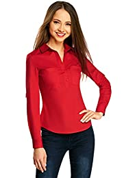 huge selection of 1bfa0 28174 camicia rossa donna - Bluse e camicie / T-shirt, top ... - Amazon.it
