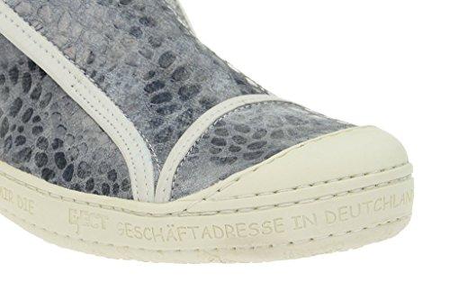 Eject que sandales de serpent gris sportif e-16221 cuir, chaussures basses femme Gris - Gris