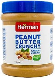 Herman Peanut butter crunchy - 340gms - pet