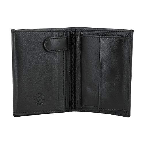 Nuvola Pelle Portefeuille Vertical pour Homme en Cuir Nappa avec Porte-Monnaie et Porte-Cartes de crédit Noir