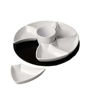 Silea 555/7940 Plat Tournant 6 Comptes Porcelaine