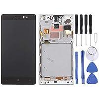 dceeb0fcdd6 WEIHONG Pantalla LCD y Conjunto Completo del digitalizador con Marco para Nokia  Lumia 830 (Negro