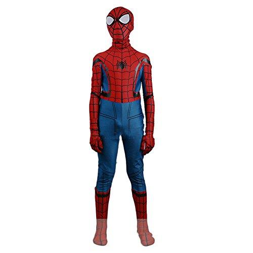 ZYFDFZ Spiderman Hero Return Spiderman Children Cos Einteilige Strumpfhosen Cosplay Kostüm Cosplay (Farbe : Photo Color, größe : Height110cm)