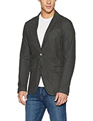 United Colors of Benetton Mens Cotton Jacket (8903239924272_15P2E0TL23M8_46_Blue 1)