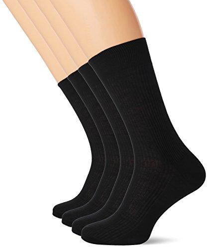 thomas-pink-cotton-chaussettes-homme-noir-noir-s-m