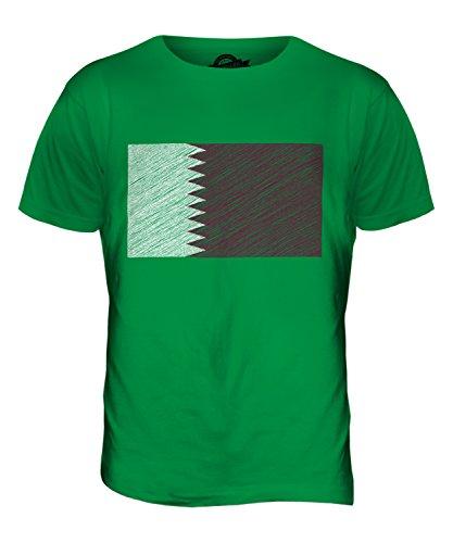 CandyMix Katar Kritzelte Flagge Herren T Shirt Grün