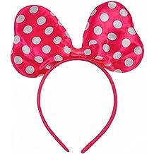 Polkadot Raso Minnie Mouse Disfraces Orejas Del Traje Negro Rojo Rosa Blanco