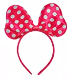 Polkadot Satin Minnie Mouse Ears De Déguisements Costume Rose Blanc