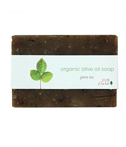 100% Pure Naturkosmetik Organic Olive Oil Soap Green Tea, Net Weight 3.5 oz / 99,2 g