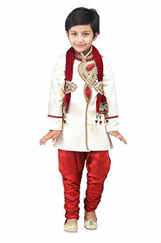 Ahhaaa Kid's Sherwani and Breeches for Boys (5-6 Years)