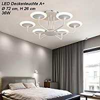 Eurohandisplay 9230X LED Ceiling Light with Remote Control Light Colour/Brightness Adjustable Acrylic Shade A+ LED Living Room Light, 9230X-6+bs, LED 220.00volts