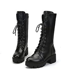 a7d02c7f3ad3 NVXUEZIX Damen Schuhe Kunststoff Herbst Winter Cowboystiefel Westernstiefel  Schneestiefel Modische Stiefel Stiefel Kniehohe Stiefel Für