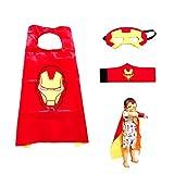 Superhelden Kostüme für Kinder LMYTech Superhelden Umhang Maske/Superhelden Masken/Filz Masken/Superheld Cosplay Party Augenmasken/Perfekt für Kinder im Alter von 3 +,Iron Man